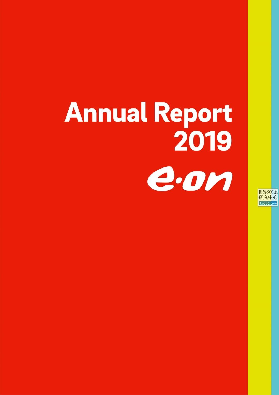 德国意昂能源E.ON_年报AnnualReport_2019_T500C.com
