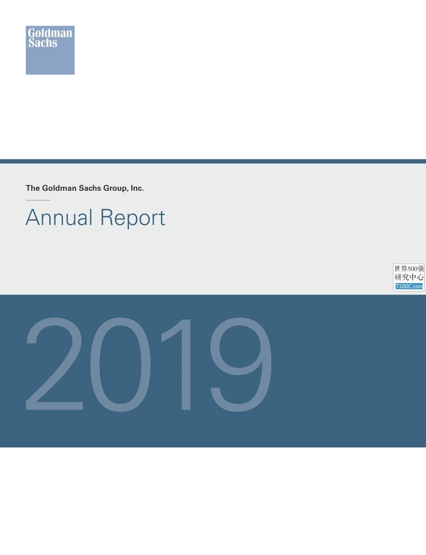 高盛GoldmanSachs_年报AnnualReport_2019_T500C.com