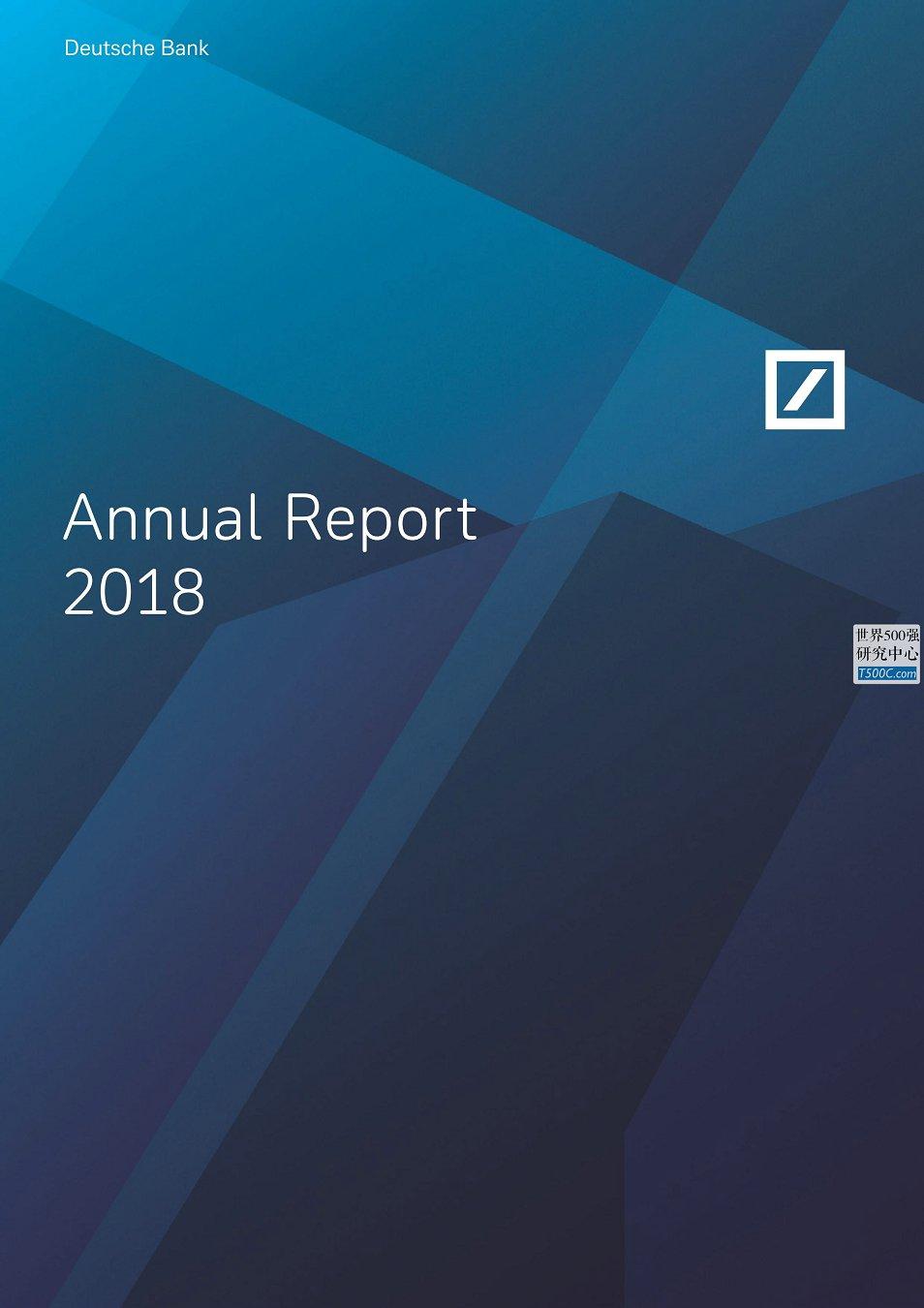 德意志银行DeutscheBank_年报AnnualReport_2018
