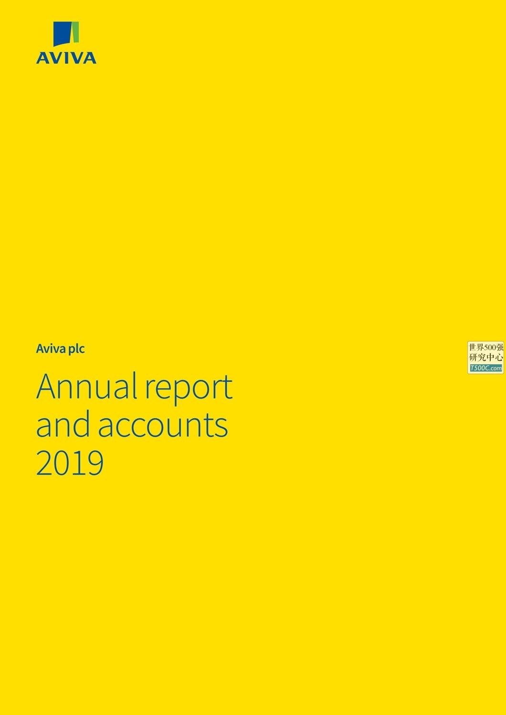 英杰华保险Aviva_年报AnnualReport_2019_T500C.com