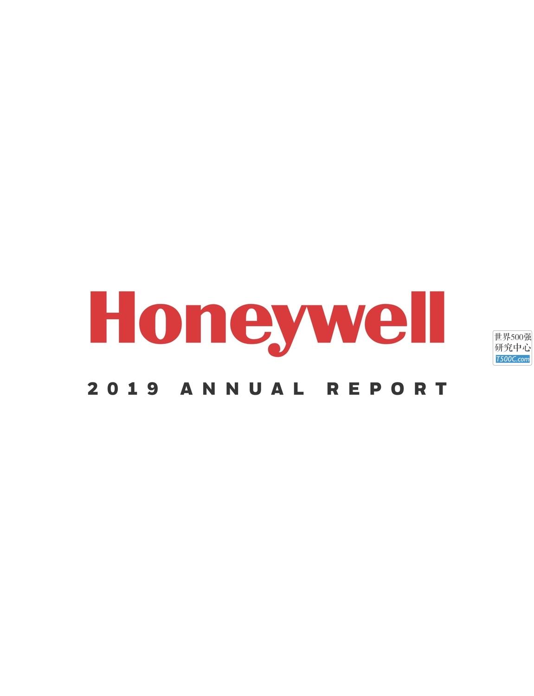 霍尼韦尔Honeywell_年报AnnualReport_2019_T500C.com