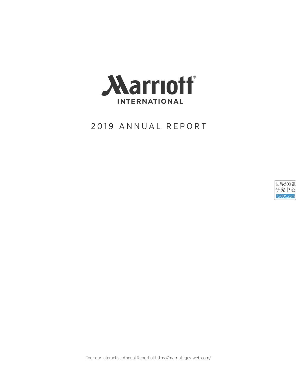 万豪酒店JWMarriott_年报AnnualReport_2019_T500C.com