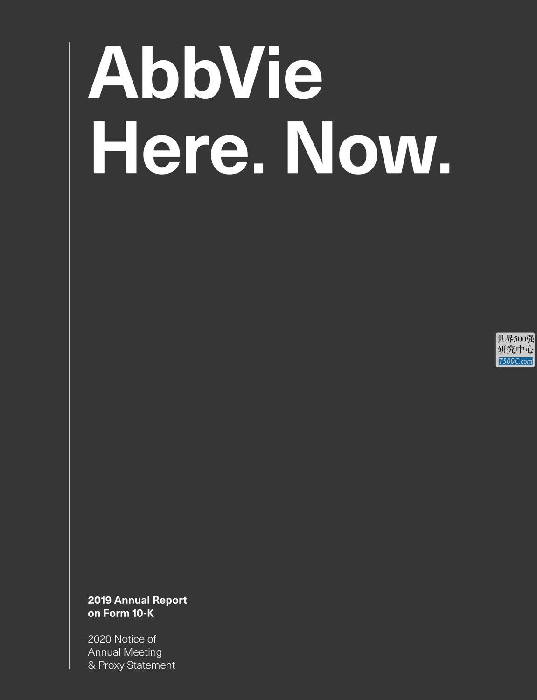 艾伯维AbbVie_年报AnnualReport_2019_T500C.com