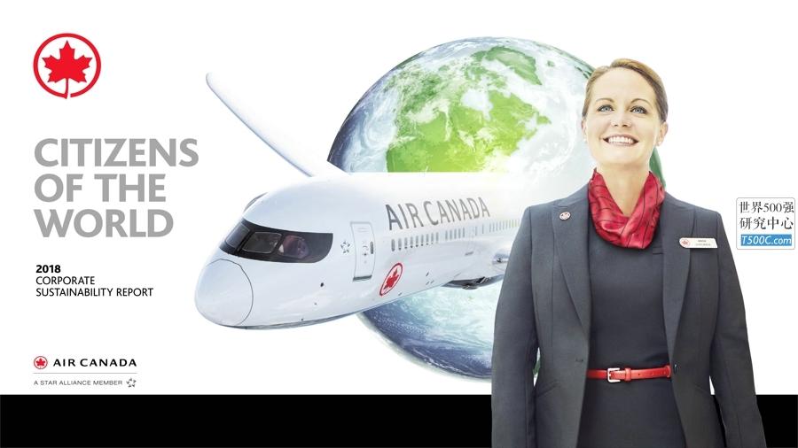 加拿大航空AirCanada_社会责任报告CSR_2018_T500C.com