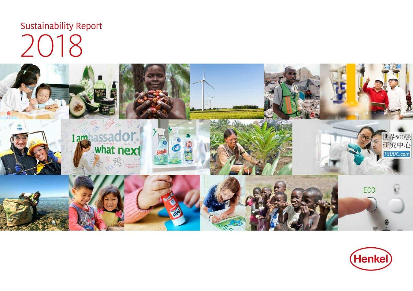 德国汉高Henkel_可持续发展报告Sustainability_2018
