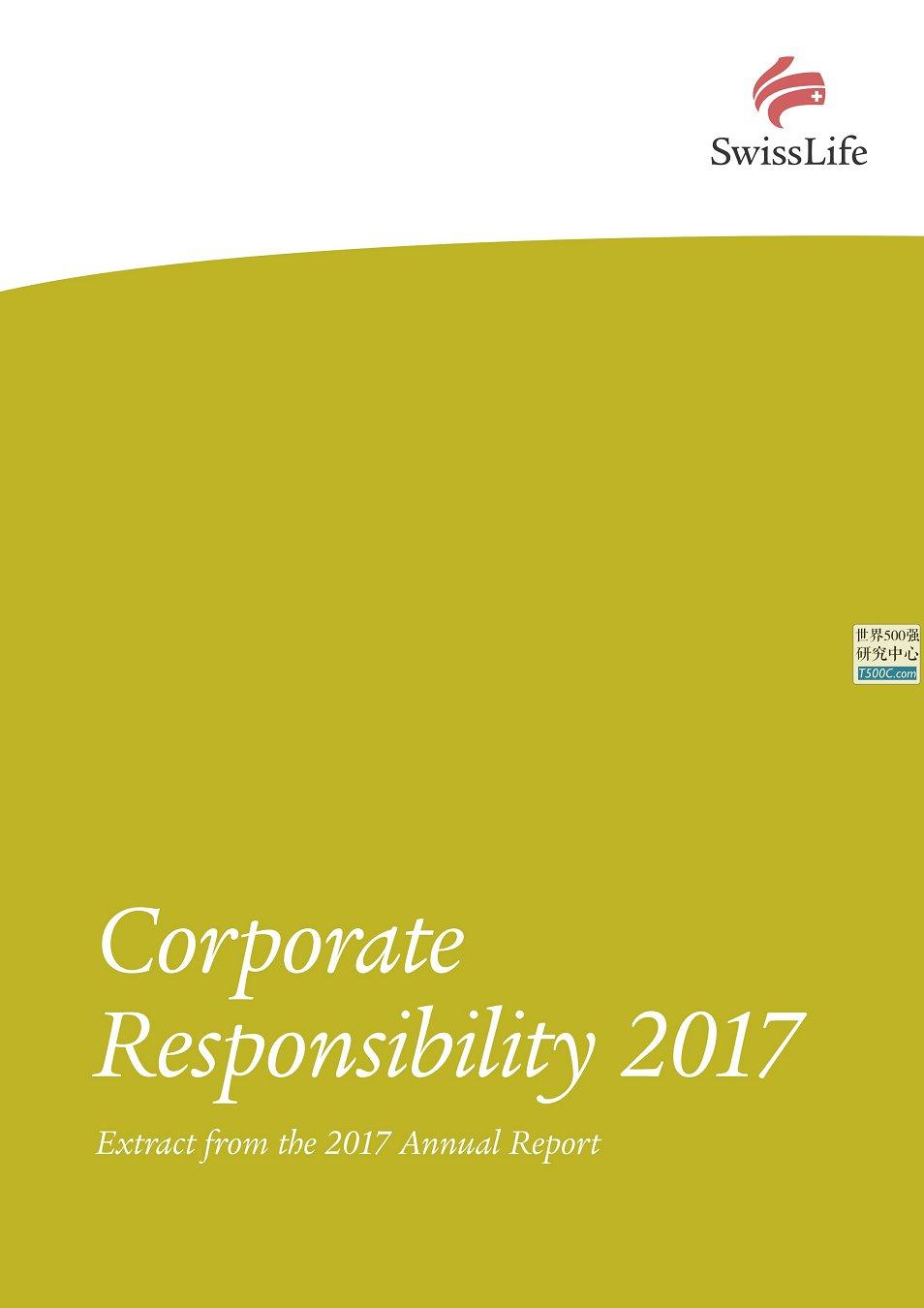 瑞士人寿保险SwissLife_社会责任报告CSR_2017