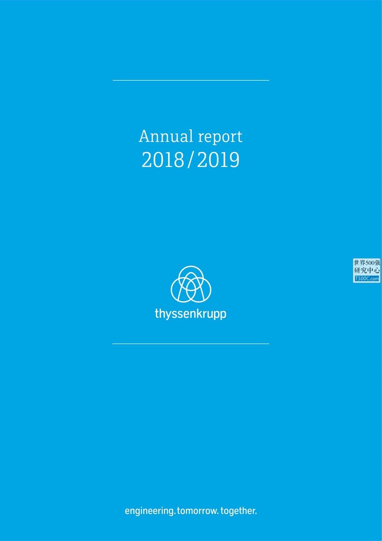 蒂森克虏伯ThyssenKrupp_年报AnnualReport_2019_T500C.com