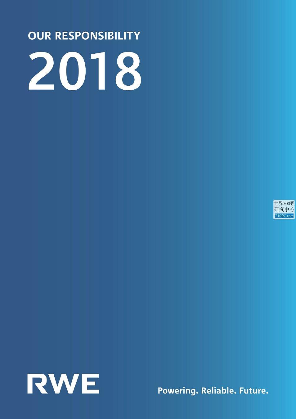 德国莱茵集团RWE_社会责任报告CSR_2018