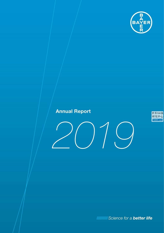 拜耳医药Bayer_年报AnnualReport_2019_T500C.com