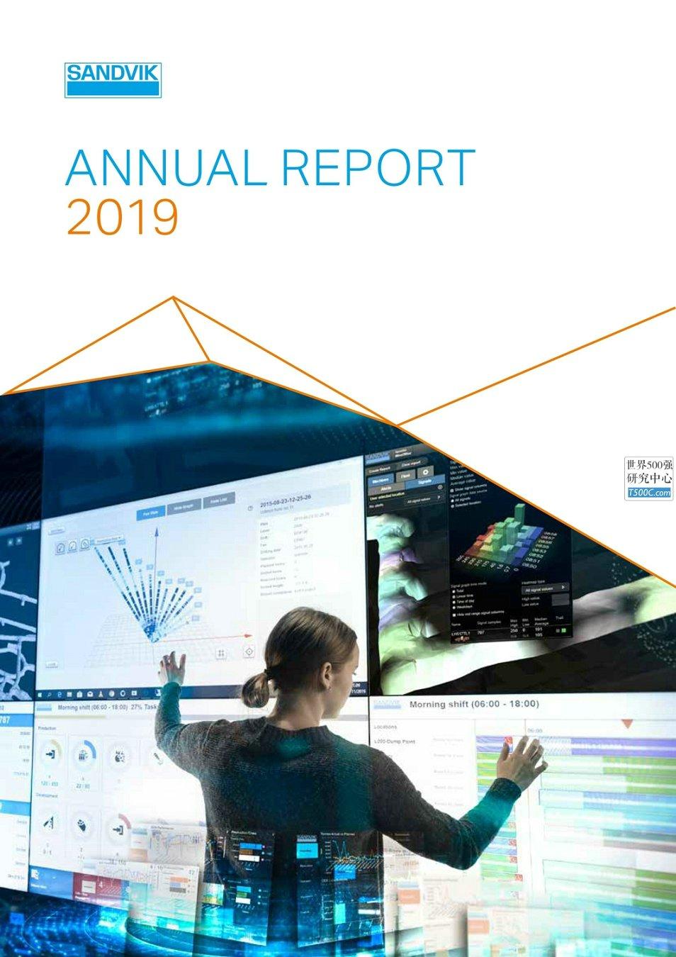 山特维克Sandvik_年报AnnualReport_2019_T500C.com