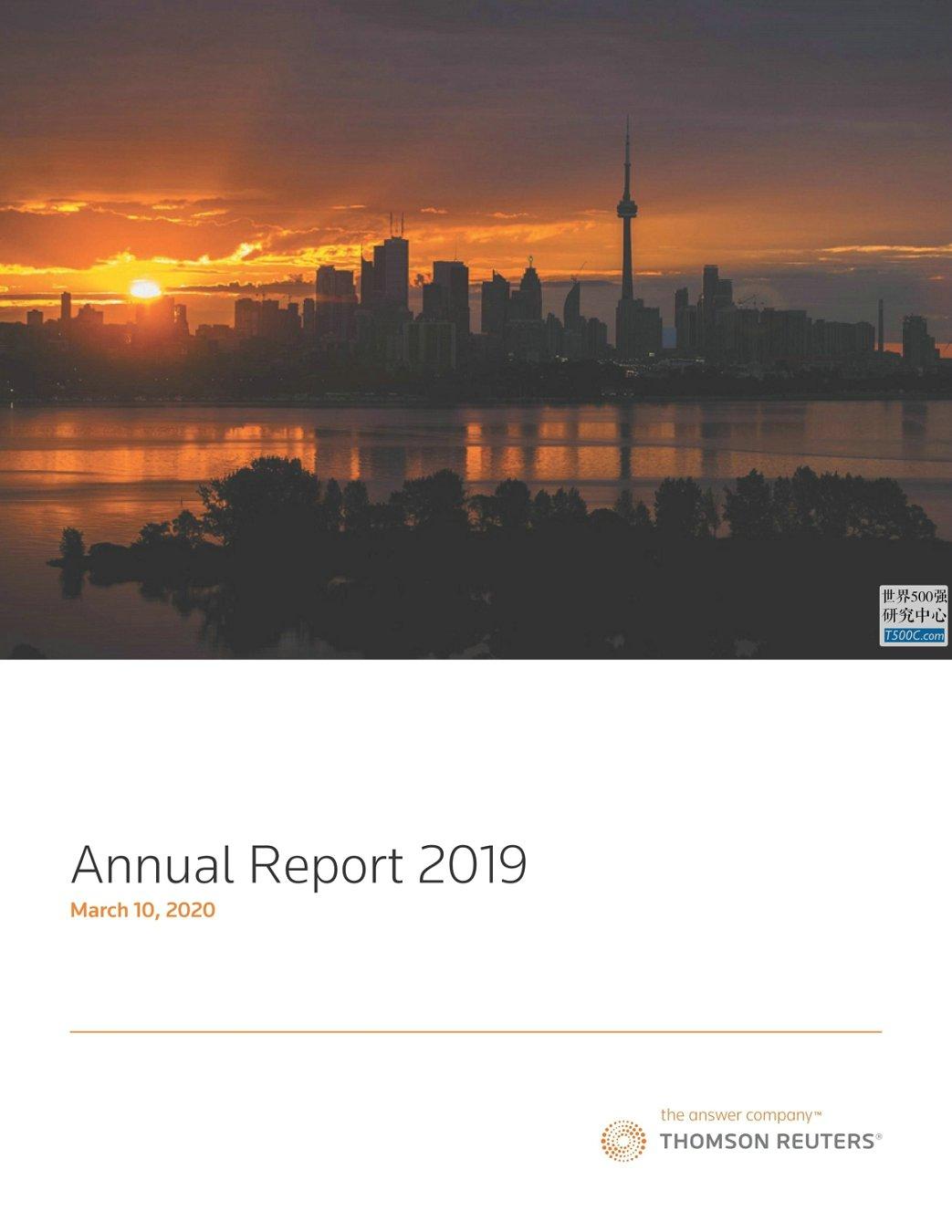 汤森路透ThomsonReuters_年报AnnualReport_2019_T500C.com