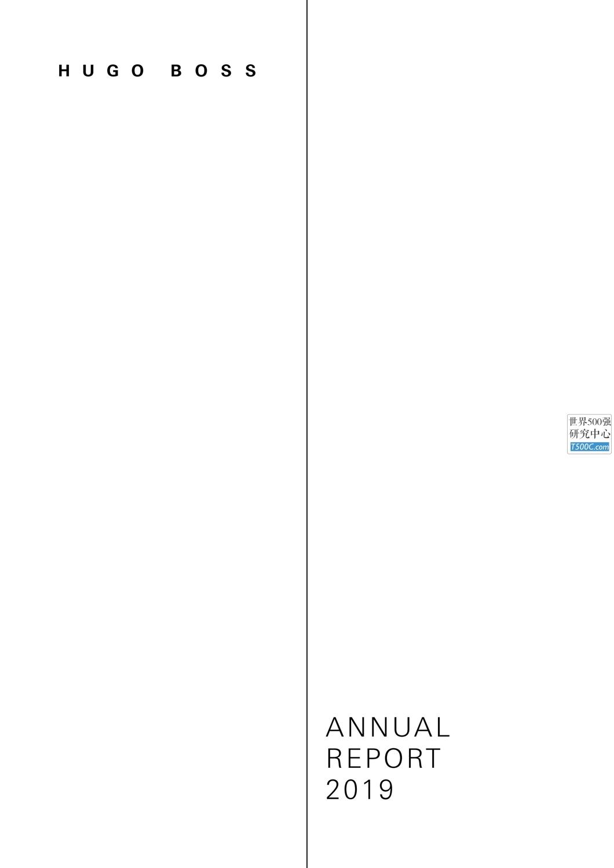 胡戈波士HugoBoss_年报AnnualReport_2019_T500C.com