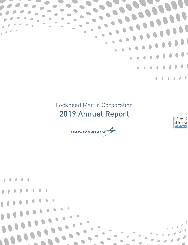 洛克希德马丁LockheedMartin_年报AnnualReport_2019_T500C.com