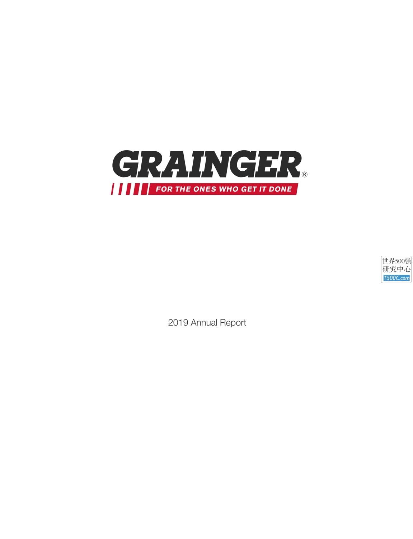 固安捷WWGrainger_年报AnnualReport_2019_T500C.com